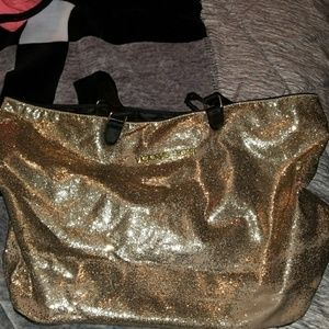 Victorias secret gold blinge xl tote